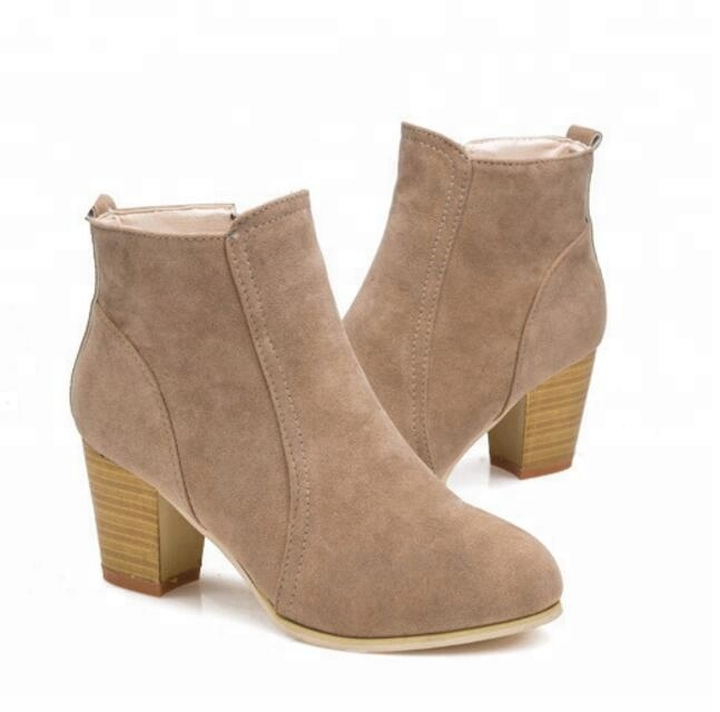 ZY2091A British chunky winter <strong>boots</strong> high heel <strong>boots</strong> women shoes