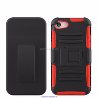 Three Dual Layer Rubber Heavy Duty Case for Iphone 7,New products back cover case for iphone 7 case
