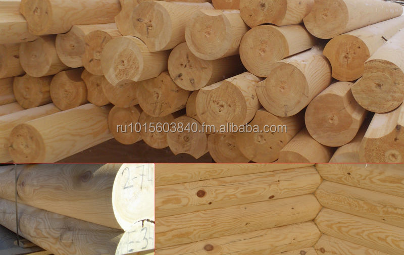 Round Logs Siberian Pine and Larch