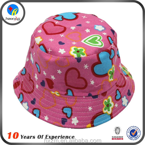 High quality fashion children bucket hat for kid