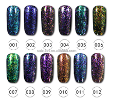 CAIXUAN factory galaxy gel, soak off brocade gel uv gel nail polish high quality 12 colors, soak off nail gel polish