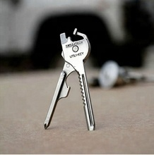 EDC 6 in 1 Stainless Steel Multi-function Utili-key Opener