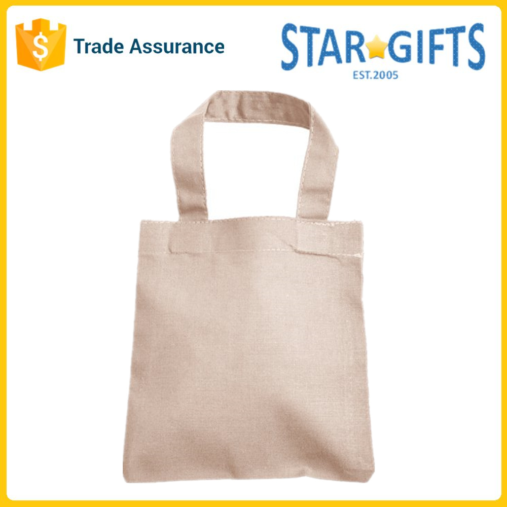 Beige Cheap Folding Custom Canvas Promotional Tote Bags