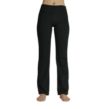 Women Sports wear Workout Fitness Yoga Gym Running Track Pants Full Length wide-legged Black Loose Pants Tights Leggings