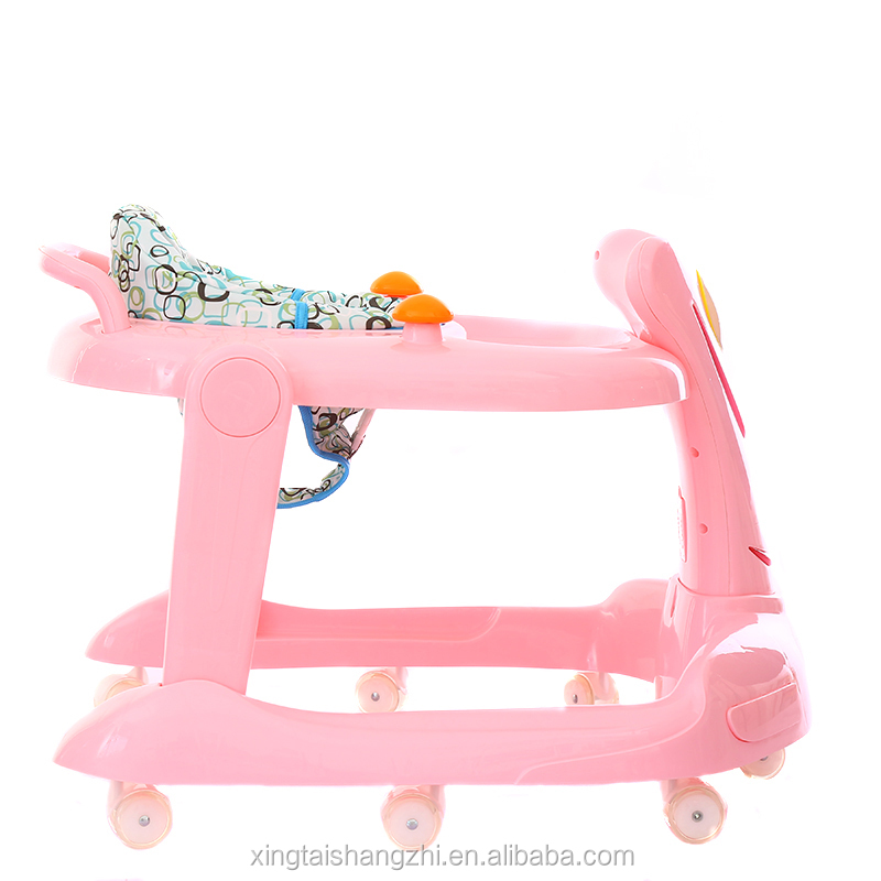 hot selling height adjustable baby walker with tray