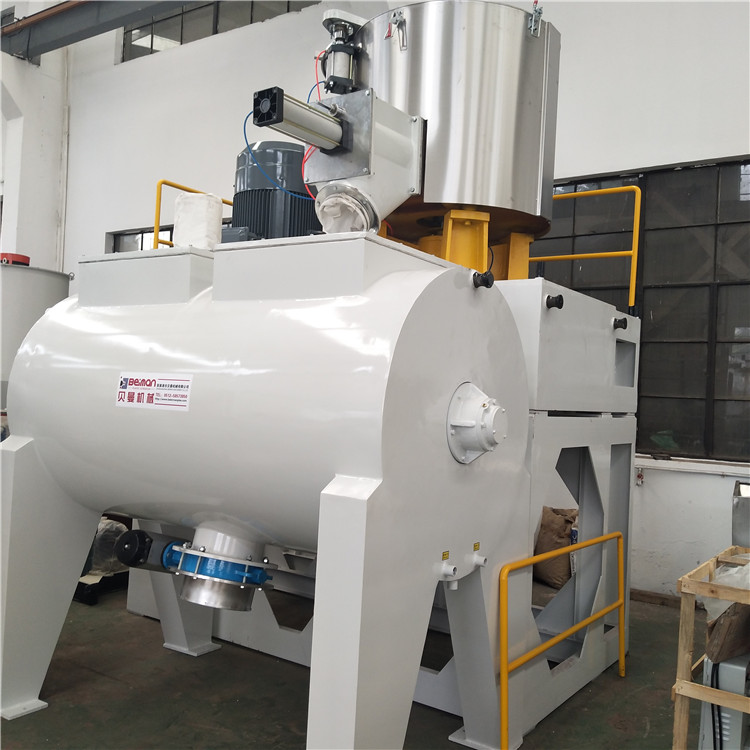 BEIMAN SRL-<strong>W1000</strong>/3000 Plastic mixing blender machine with capacity 1600kg/h horizontal model