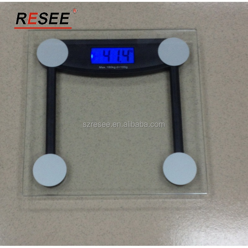 portable electronic weighing scale glass scale use in hotel
