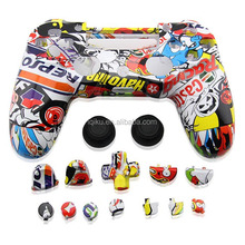Hydro Dipped Sticker Bomb Full Housing Shell Case With Full Thumbsticks Button Sets For PS4 Controller