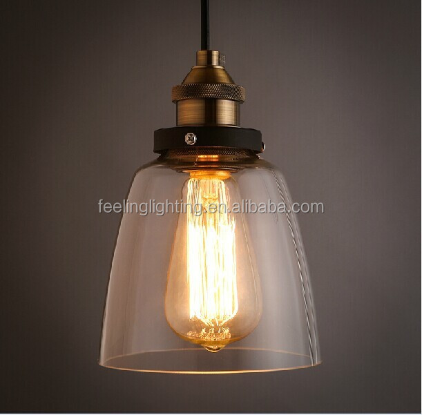 2016 hot selling Vintage clear glass pendant lamp/light/<strong>lighting</strong> china supplier