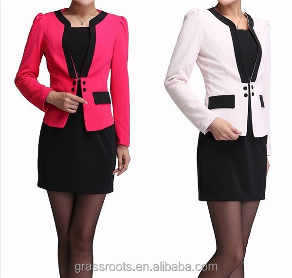 Hot Sale High Quality New Arrivals Office Lady Suits For Autum