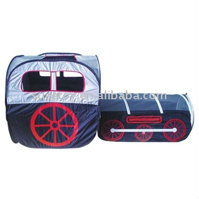 Play Tent W/ Train Shaped Tent