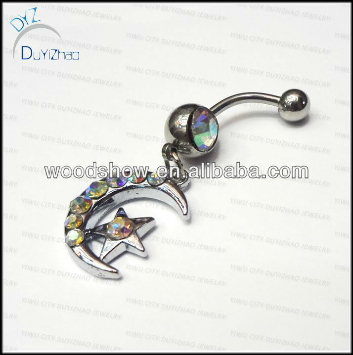 Crystal 316L Steel Dangle Belly button rings Navel rings Navel piercing Body jewelry/piercing