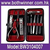 H0T019 High quality of professional nail care kit nail clipper tweezer beauty scissor