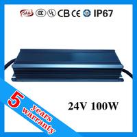 high power waterproof IP67 cv 24 volt 100 watt 24vdc 100W 24V dc 0-10V dimmable constant voltage dimming LED dimmer driver