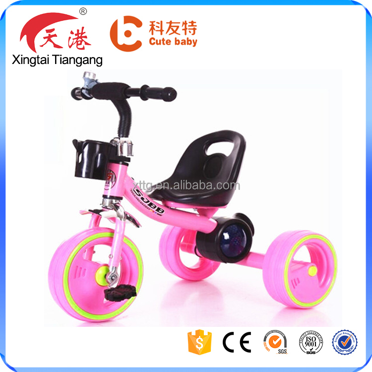 Cheap plastic children tricycle bike with music and flashlight