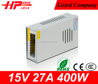 Guangzhou factory reliable quality rainproof constant voltage output 400 watt 15v 26.5 ampere power supply 15v led driver