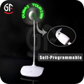 Best Sell Promotional Gift Light Up Message USB Led Fan
