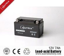 YTX7-BS 12v 7ah mf maintenance free Motorcycle battery