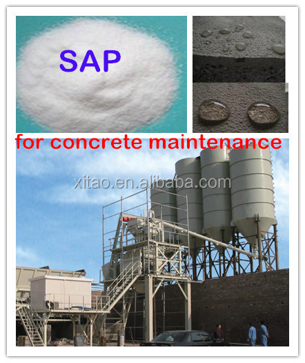 Super absorbent polymer(SAP) for concrete maintenance/anti-cracking & shrinkage