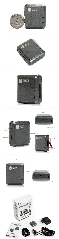 Reachfar Rf-v8 coin size mini hidden bicycle gps car tracker