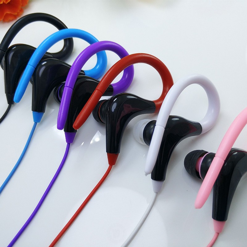 Free shipping high quality 6 colors sport headphone Cheap wired good quality Headset wholesale from China with opp bag package