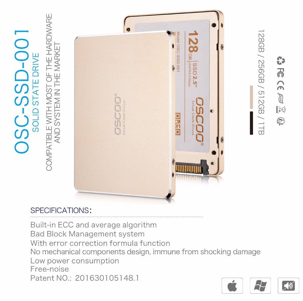 "OSCOO Brand Wholesale 2.5"" SATAIII interface solid state drives 256GB"