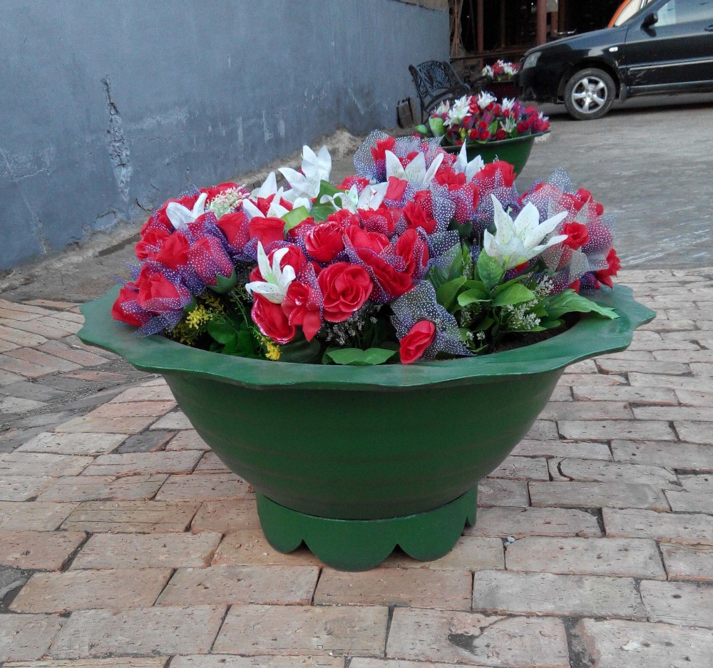 Outside used flowerpots,Decorative iron casting flower pots,Garden iron flower pots manufacturer