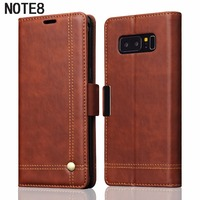 2017 Trending Products PU Leather Flip Cover Galaxy Note 8 Case With Credit Card Slot