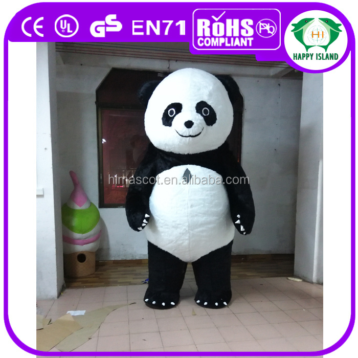 HI CE Standard inflatable polar bear costume, inflatable panda costume
