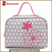 Sakura Printing Jute Tote Cosmetic Bag For Toiletries