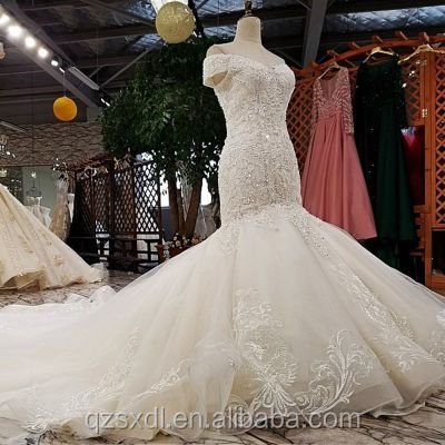 Stylish Lace Appliques Wedding Dress Lace Mermaid White Bridal Dress Alibaba Wedding Bridal Gown Wedding Dress