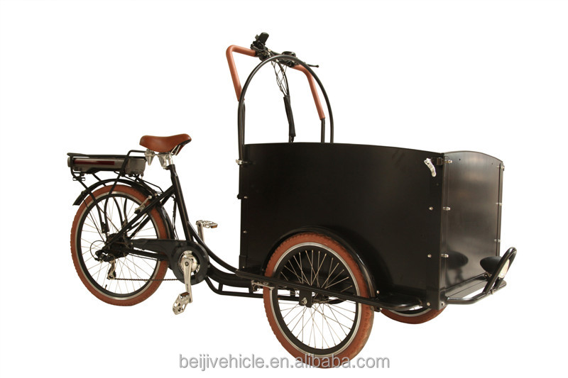 danish design bakfiets three wheel tricycle electric cargo bike/cargo bicycle