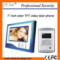 Good quality 7 inch color video door phone with night version 750TVL camera can be for 6 families competition video door phone