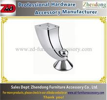 Beautiful shape chrome furniture legs from China suppliers ZD-C002
