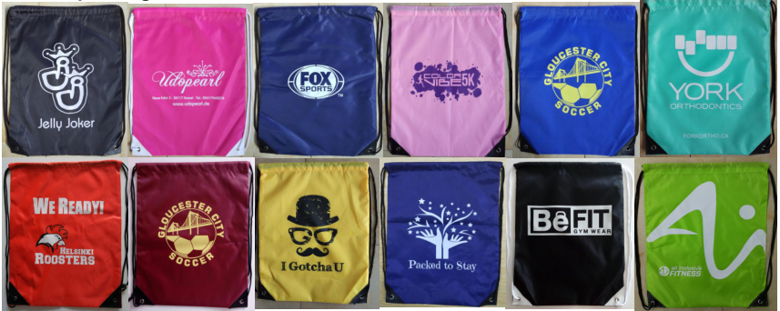 Custom Printed String Bag Sport Drawstring Bag With Logo