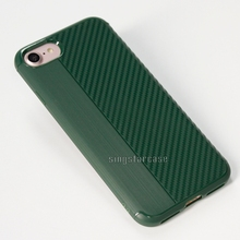 Shockproof soft tpu brushed carbon fiber phone case for iphone 5 case back cover