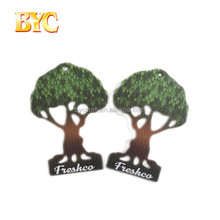 Souvenir gift tree shape paper car air freshener for celebrate date