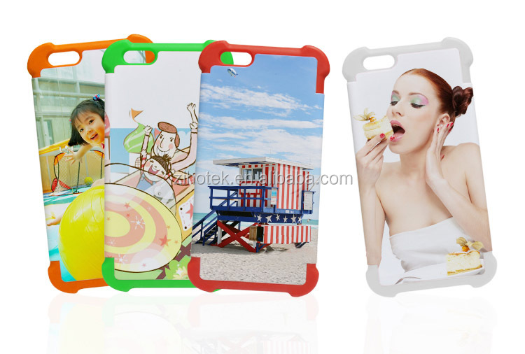 Blank 2 in 1 3D sublimation cases for iPhone 6 double protective cover cases DIY printing