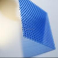 Color Polycarbonate sheet twin wall PC sheet 4mm to 12mm thick for Green house
