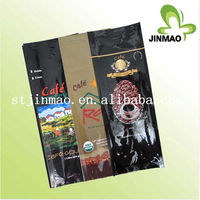 Plastic heat seal aluminium foil bag for coffee packaging