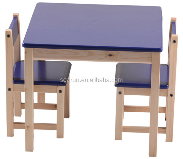 Wood Table Furnture , Children Study Table and chair