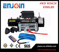 8500lbs-12V-24V- 4WD winch/4x4 electric winch/auto winch//with synthetic rope