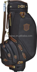 wholesale high quality custom handmade PU leather golf clubs complete set and bag