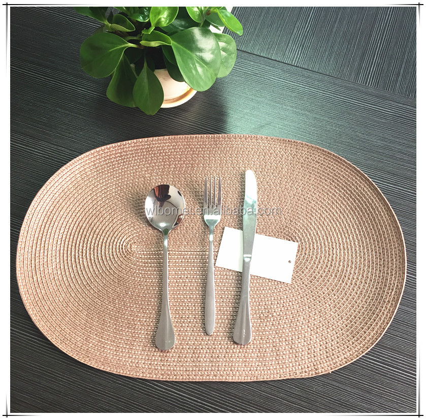 best selling cheap plastic PP oval Placemat for hotel, home dining room