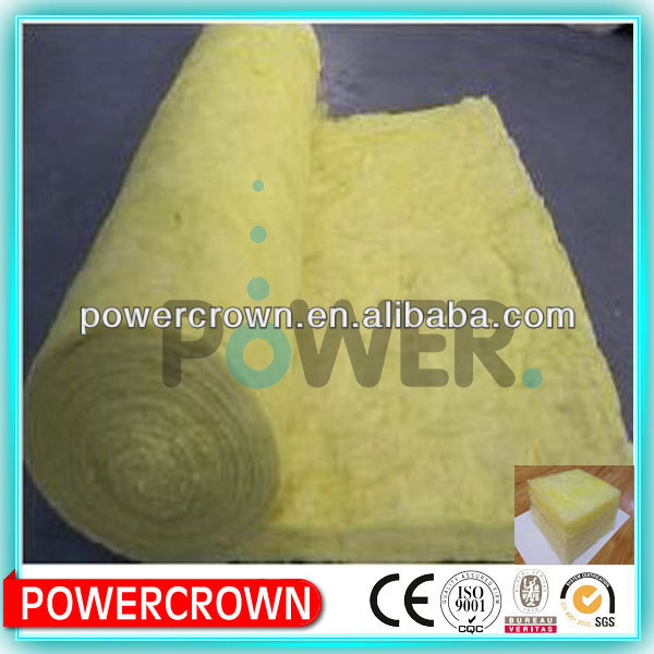 sound absorbing fiber glass wool roll heat insulation material for construction material