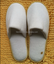 5 mm EVA sole White Velour hotel slipper / dot fabric sole white velour hotel slipper hotel slipper
