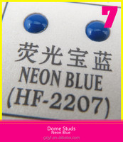 Iron-On Half Round Dome Studs For Shoes Neon Blue 6mm