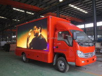 factory supply P6, P8,P10 full color screen FORLAND 4*2 led advertisment truck