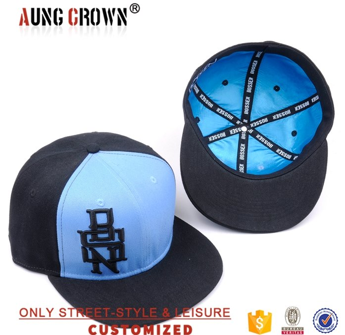 High quality custom raised 3D embroidery snapback hat