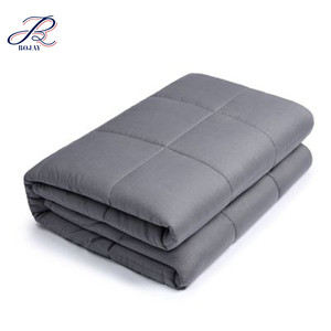 Wholesale Dark Grey Light Grey 48x72 inch 15 lbs Weighted Blanket for Adults Fits Queen or Full Size Beds